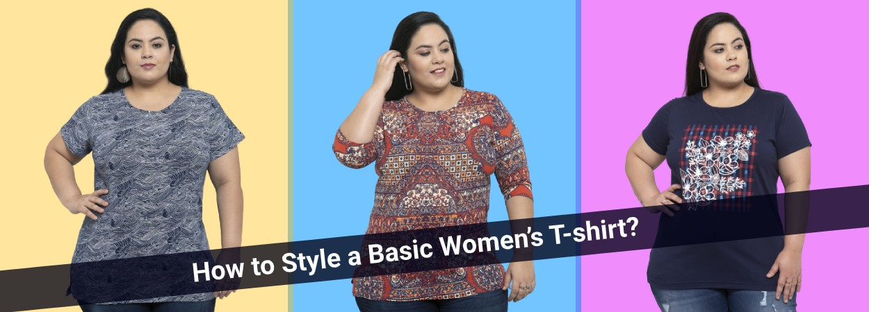 How to style a basic women's t-shirt?