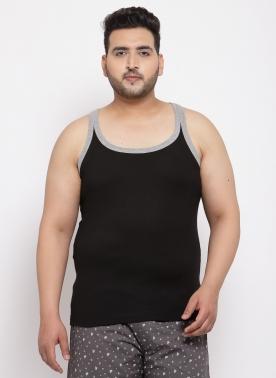 Men Black Solid Innerwear Vests