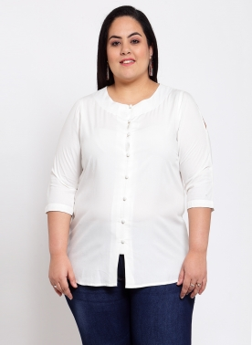 White Shirt Style Top