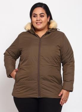 Women Brown Bomber Jacket