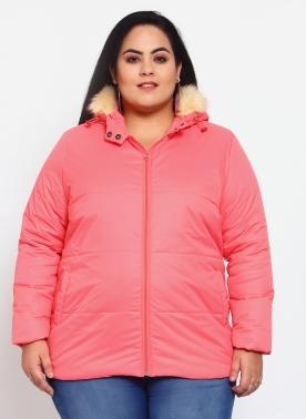 Women Coral Bomber Jacket