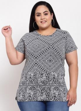 Women White Printed T-shirt