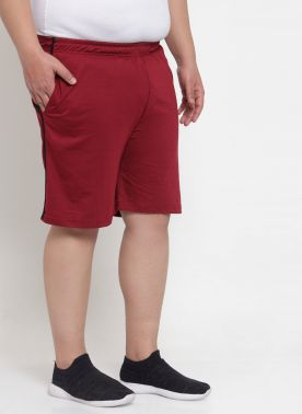 Maroon Bermuda with Black Lining