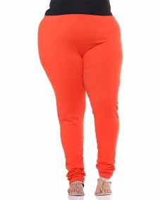 a Orange legging with regular fit