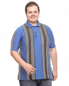 a Sky Blue STP Polo T-shirt