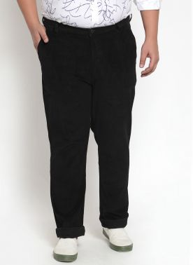 a Black Cordroy Trouser with Regular FIt