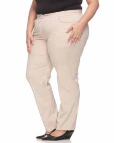 a Beige Solid Formal Trouser
