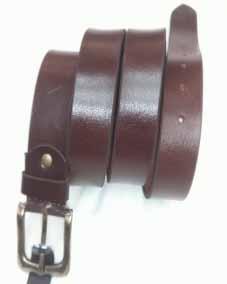 Dk.Brown Leather Belt
