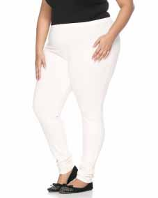 Offwhite Leggings with regular Fit