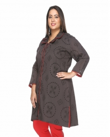 Anthra Prt tunic with Net Embriodery