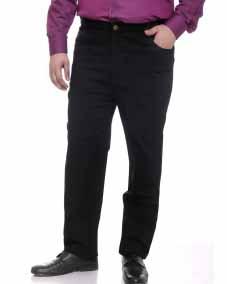 plusS Black Smart Fit Trousers