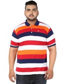 Orange/White Stripe Polo T-shirt
