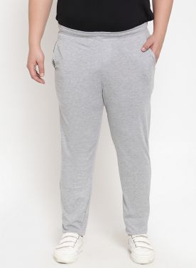 GRey Trackpant With regulat fit
