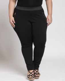 LADIES JEGGING WITH ELASTIC AND METAL ZIPPER