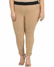 CAMEL JEGGING WITH REGULAR FIT