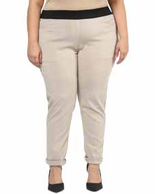 BEIGE JEGGING WITH REGULAR FIT
