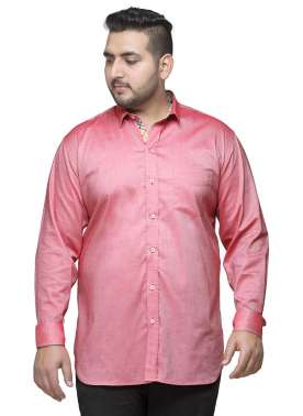 Men Pink Regular Fit Self-Design Formal Shirt