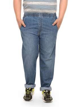 PlusS Men Denim Wash Trackant