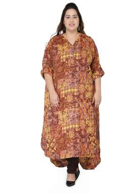 plusS Women Multicoloured Printed Kurta