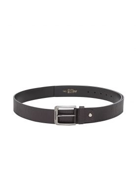 plusS Men Black Leather Belt