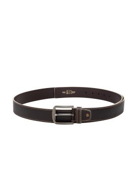 plusS Men Tan Brown Leather Belt