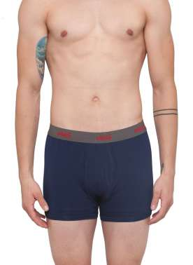 plusS Men Navy Solid Trunks