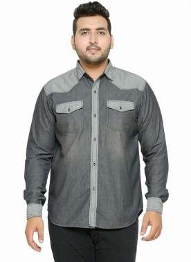 Grey Washed Casual Shirt