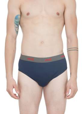 plusS Men Solid  Navy Briefs
