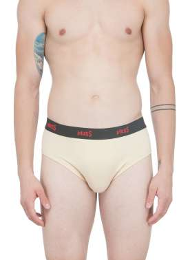 plusS Men Skin Solid Brief
