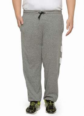 plusS Grey Melange Track Pants