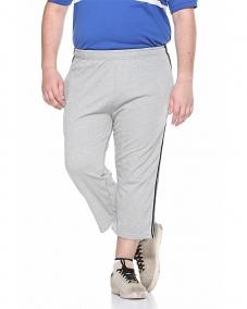 Grey Capri With Regular Fit