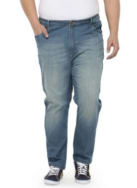 Men Blue Regular Fit High-Rise Clean Look Jeans