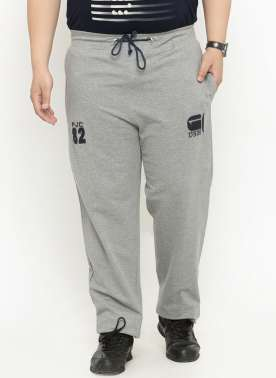 plusS Men Grey Track Pants