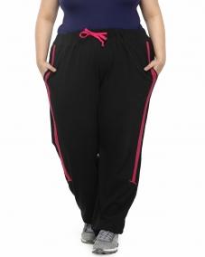 plusS Black Solid Track Pants