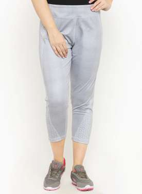 plusS Women Grey Printed Regular Fit Capris