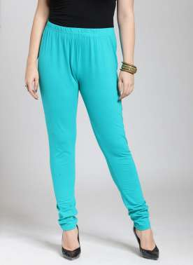 Turquoise Blue Churidar Leggings