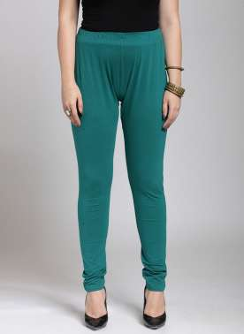 Green Churidar Leggings