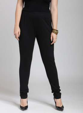 Black Churidar Leggings