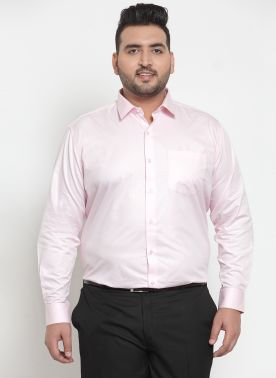 plusS Men Pink Formal Shirt