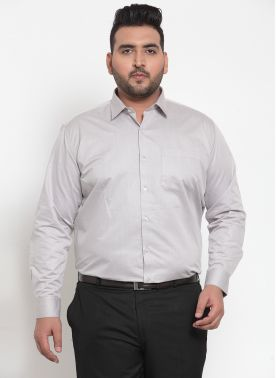 plusS Men Grey Formal Shirt