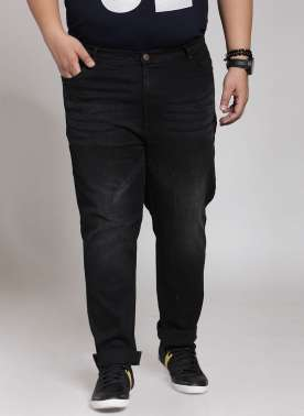 Black Denim With Regular Fit