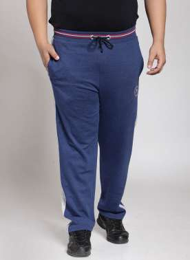 plusS Men Blue Straight Fit Track Pants