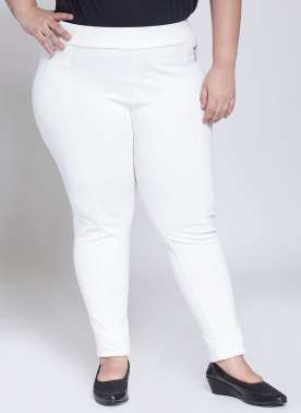 PlusS White Slim Fit Jegging