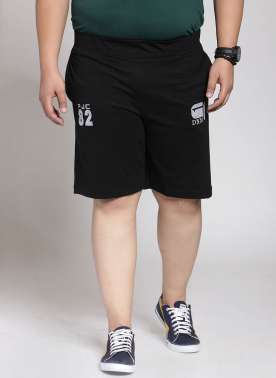 plusS Men Black Shorts