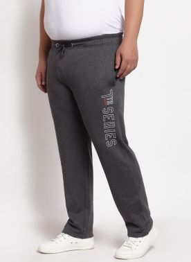 plusS Grey Solid Track Pants