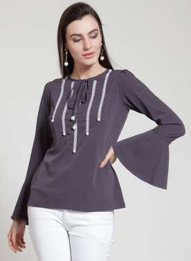 plusS Women Purple Solid Top