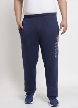 plusS Navy Solid Track Pants
