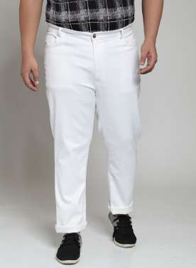 Men White Slim Fit Mid-Rise Clean Look Stretchable Jeans