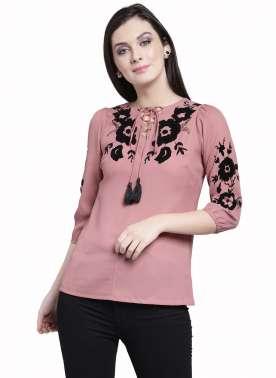 plusS Women Pink Printed Top