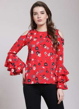 plusS Women Red Printed Top